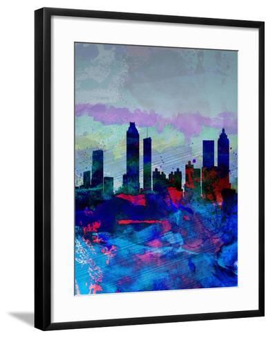 Atlanta Watercolor Skyline-NaxArt-Framed Art Print