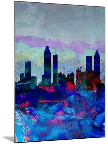 Atlanta Watercolor Skyline-NaxArt-Mounted Art Print