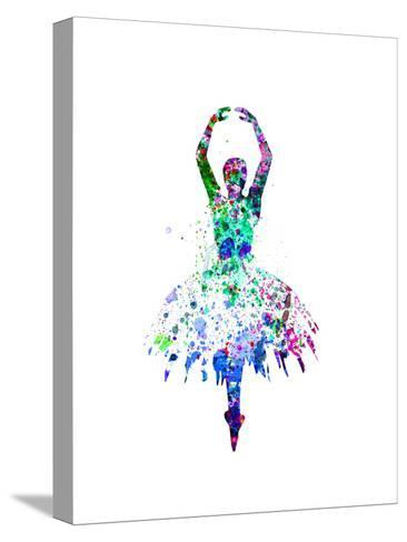 Ballerina Dancing Watercolor 4-Irina March-Stretched Canvas Print