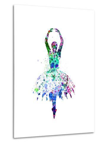Ballerina Dancing Watercolor 4-Irina March-Metal Print