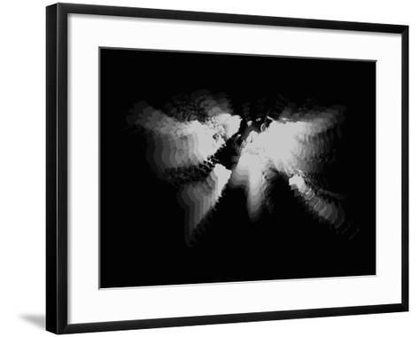 White Radiant World Map-NaxArt-Framed Art Print