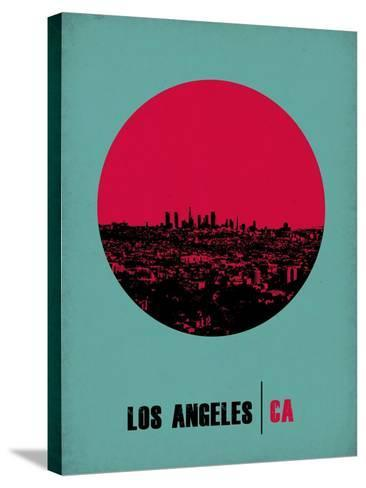 Los Angeles Circle Poster 1-NaxArt-Stretched Canvas Print