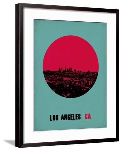 Los Angeles Circle Poster 1-NaxArt-Framed Art Print