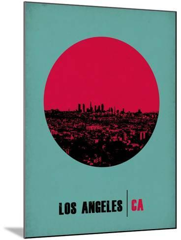 Los Angeles Circle Poster 1-NaxArt-Mounted Art Print