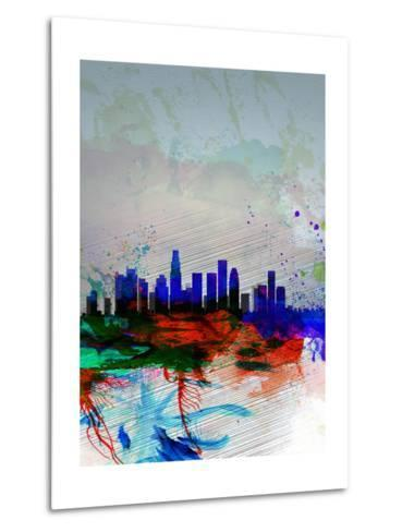 Los Angeles Watercolor Skyline 1-NaxArt-Metal Print