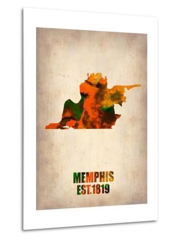 Memphis Watercolor Map-NaxArt-Metal Print