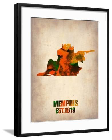 Memphis Watercolor Map-NaxArt-Framed Art Print