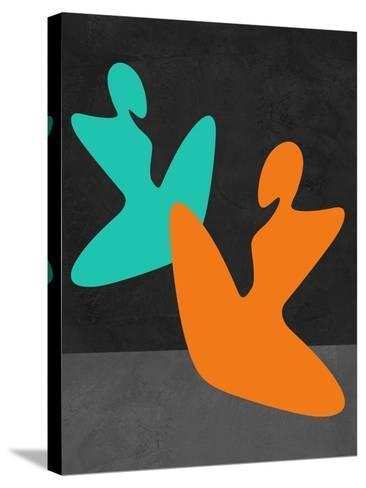 Orange and Blue Girls-Felix Podgurski-Stretched Canvas Print