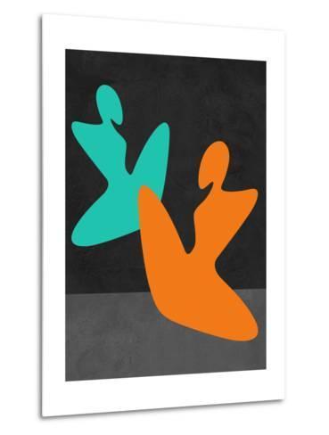 Orange and Blue Girls-Felix Podgurski-Metal Print