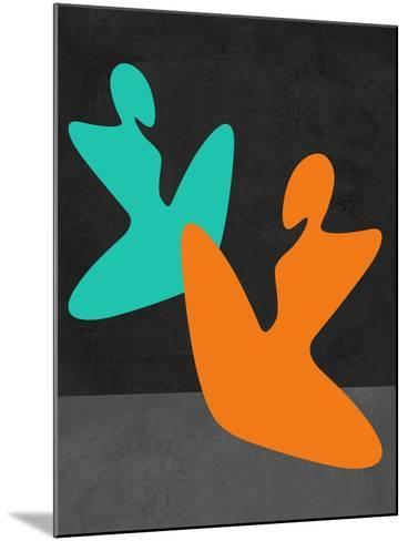 Orange and Blue Girls-Felix Podgurski-Mounted Art Print