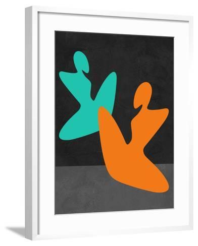 Orange and Blue Girls-Felix Podgurski-Framed Art Print