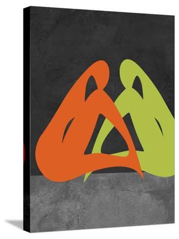 Orange and Green Women-Felix Podgurski-Stretched Canvas Print