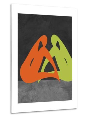 Orange and Green Women-Felix Podgurski-Metal Print