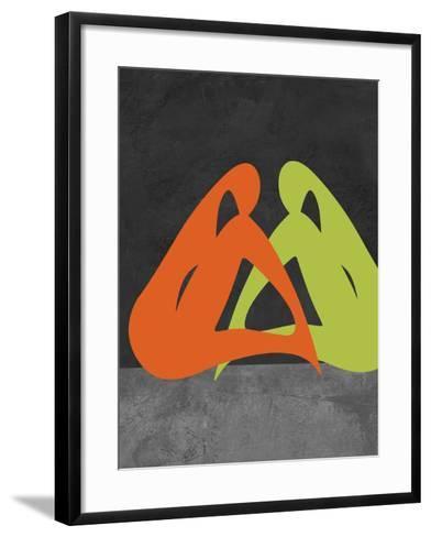 Orange and Green Women-Felix Podgurski-Framed Art Print