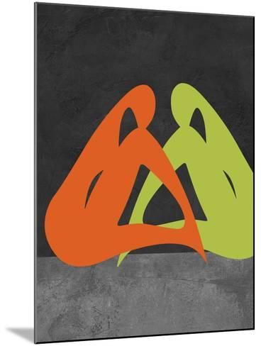 Orange and Green Women-Felix Podgurski-Mounted Art Print