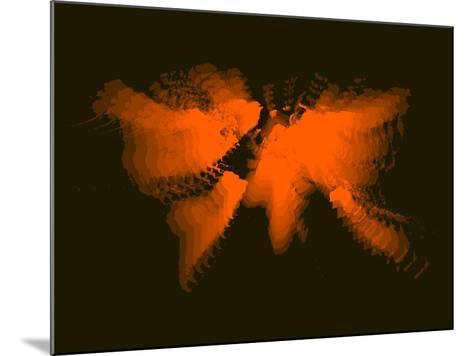 Orange Radiant World Map-NaxArt-Mounted Art Print