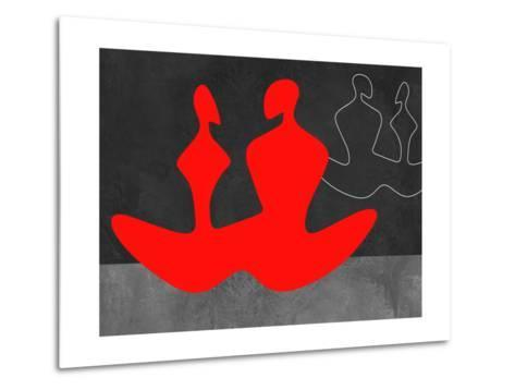 Red Couple 1-Felix Podgurski-Metal Print