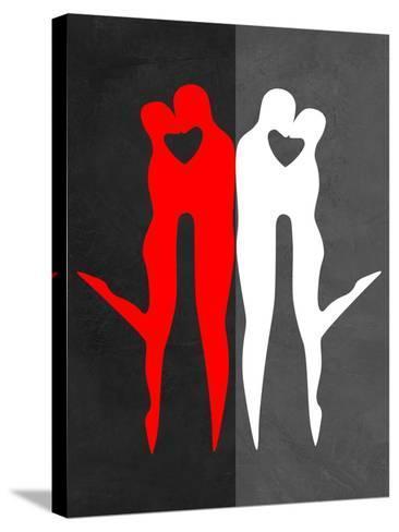 Red Kiss Reflection-Felix Podgurski-Stretched Canvas Print