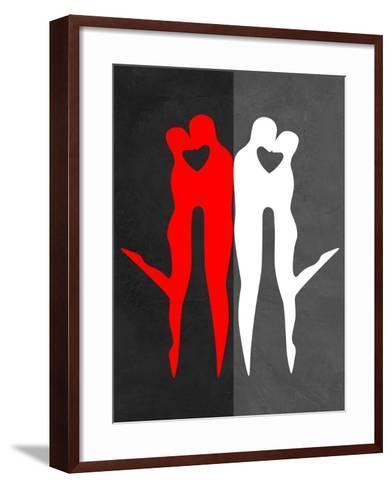 Red Kiss Reflection-Felix Podgurski-Framed Art Print