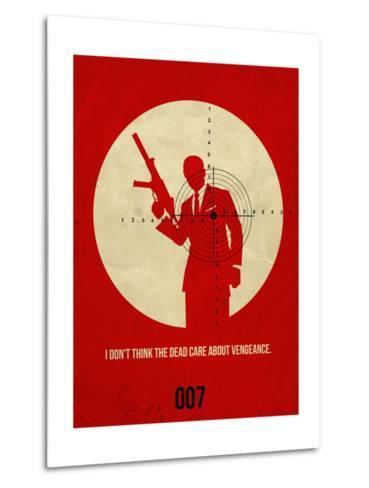 James Poster Red 1-Anna Malkin-Metal Print