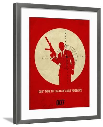 James Poster Red 1-Anna Malkin-Framed Art Print