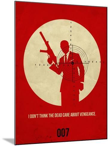 James Poster Red 1-Anna Malkin-Mounted Art Print
