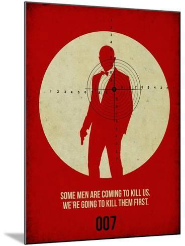James Poster Red 3-Anna Malkin-Mounted Art Print