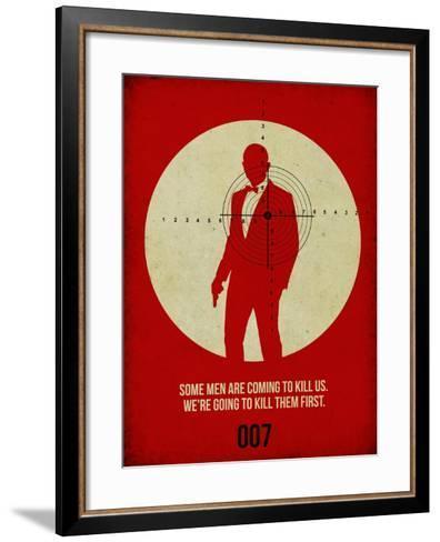 James Poster Red 3-Anna Malkin-Framed Art Print