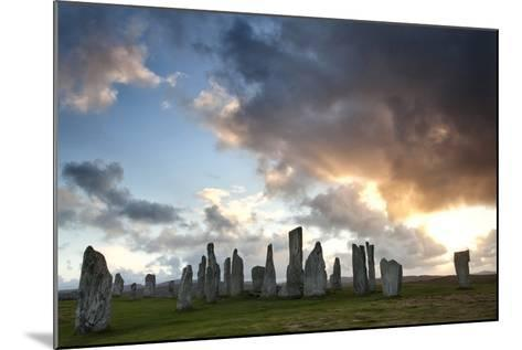 Standing Stones of Callanish at Sunset with Dramatic Sky in the Background-Lee Frost-Mounted Photographic Print