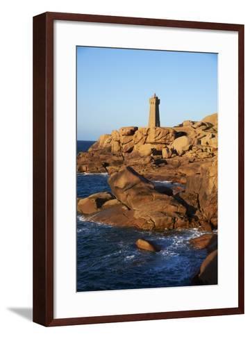 Pointe De Squewel and Mean Ruz Lighthouse-Tuul-Framed Art Print