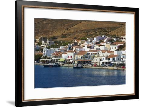 Korissia Harbour, Kea Island, Cyclades, Greek Islands, Greece, Europe-Tuul-Framed Art Print