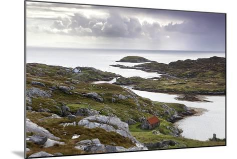 View Out to Sea over Abandoned Crofts at the Township of Manish-Lee Frost-Mounted Photographic Print