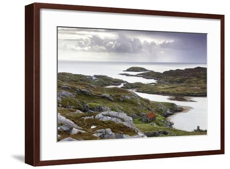 View Out to Sea over Abandoned Crofts at the Township of Manish-Lee Frost-Framed Art Print