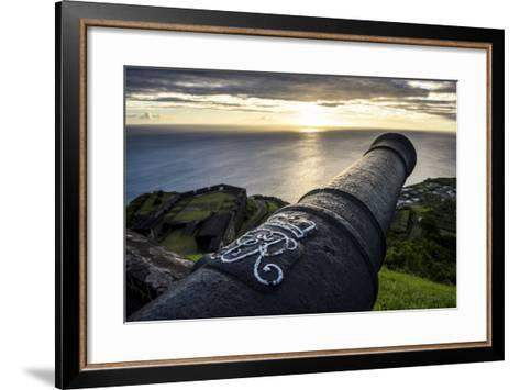 Sunset over Brimstone Hill Fortress-Michael Runkel-Framed Art Print