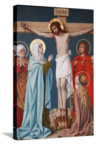 The Crucifixion of Jesus, Holy Blood Basilica, Bruges, West Flanders, Belgium, Europe-Godong-Stretched Canvas Print