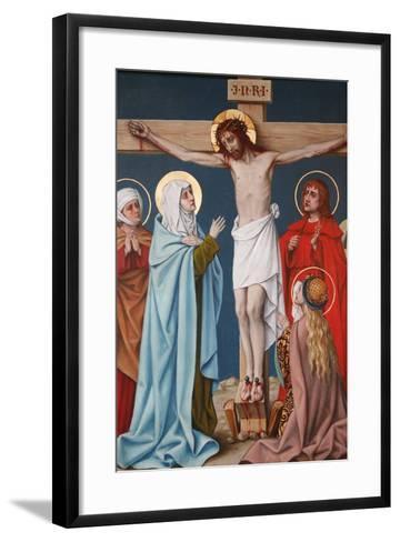 The Crucifixion of Jesus, Holy Blood Basilica, Bruges, West Flanders, Belgium, Europe-Godong-Framed Art Print