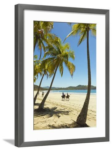 Horse Riders on Beautiful Palm Fringed Playa Carrillo-Rob Francis-Framed Art Print