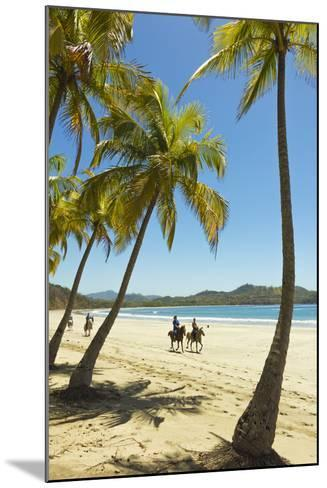 Horse Riders on Beautiful Palm Fringed Playa Carrillo-Rob Francis-Mounted Photographic Print