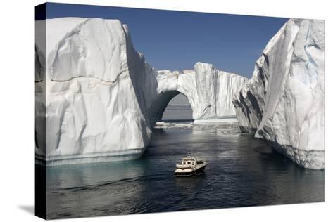 Icebergs in Disko Bay-Gabrielle and Michel Therin-Weise-Stretched Canvas Print