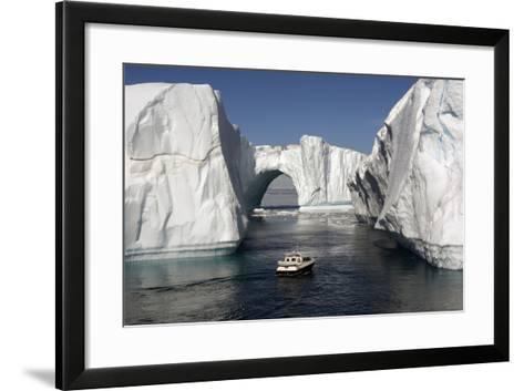 Icebergs in Disko Bay-Gabrielle and Michel Therin-Weise-Framed Art Print