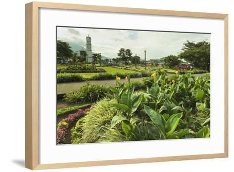 Church and Park in This Tourist Hub Town Near the Hot Springs and Arenal Volcano-Rob Francis-Framed Art Print