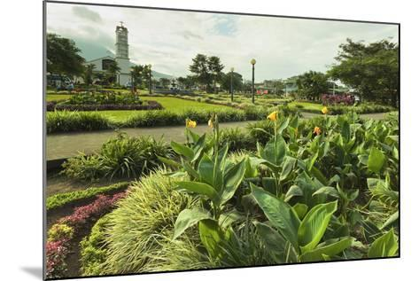 Church and Park in This Tourist Hub Town Near the Hot Springs and Arenal Volcano-Rob Francis-Mounted Photographic Print