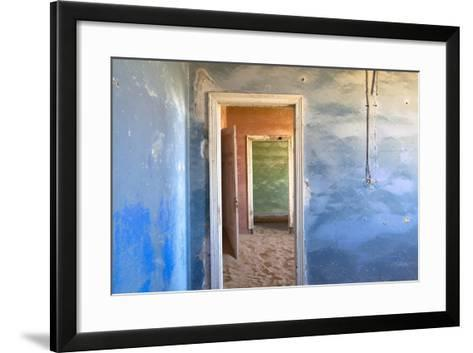 Interior of Building Slowly Being Consumed by the Sands of the Namib Desert-Lee Frost-Framed Art Print
