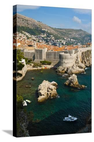 Dubrovnik Old Town and the City Walls-Matthew Williams-Ellis-Stretched Canvas Print