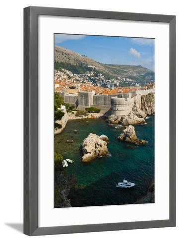 Dubrovnik Old Town and the City Walls-Matthew Williams-Ellis-Framed Art Print