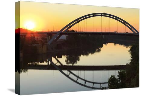 Gateway Bridge over the Cumberland River-Richard Cummins-Stretched Canvas Print
