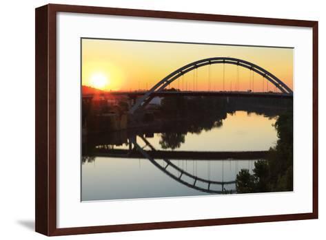 Gateway Bridge over the Cumberland River-Richard Cummins-Framed Art Print