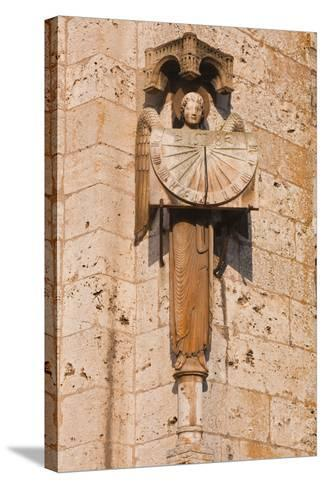 An Old Sundial on Chartres Cathedral-Julian Elliott-Stretched Canvas Print