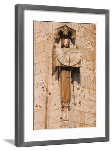 An Old Sundial on Chartres Cathedral-Julian Elliott-Framed Art Print