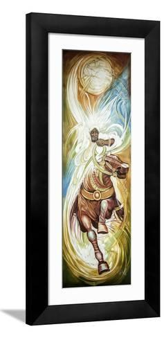 Painting of a Horse Rider by an Ethiopian Artist-Gabrielle and Michel Therin-Weise-Framed Art Print